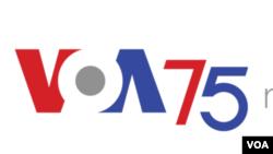 VOA 75 logo
