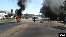 Some parts of Bulawayo were inaccessible as protesters blocked roads using tyres, stones and anything they could lay their hands on.