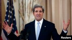 克里國務卿2013年2月6日在美國國務院宣誓就職之後,發表講話