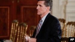 L'ancien conseiller à la sécurité nationale de Donald Trump Michael Flynn à la Maison Blanche, le 10 février 2017.