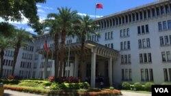 Le bâtiment du ministère des affaires étrangères de Taiwan, le 6 juillet 2016.