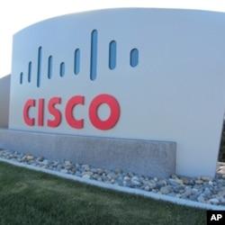 美国硅谷思科公司总部附近的标牌