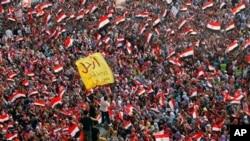 埃及胜利广场的抗议者