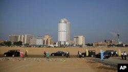 Một góc thành phố cảng Colombo của Sri Lanka, nơi Ấn Độ đang quan ngại về sự gia tăng của các dự án Trung Quốc tại đây.
