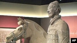 More than 2000 years old, the warrior and his horse is one of the clay cavalrymen that once protected the tomb of the first Chinese emperor Qin Shihuangdi. Now at the entrance to the National Geographic Museum in Washington, DC until March 2010