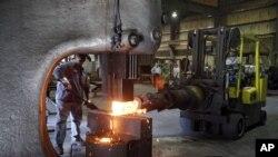 """Snimak iz fabrike kompanije """"Solnet Technologies"""" u Kantonu, u državi Ohajo, 6. septembar 2012."""