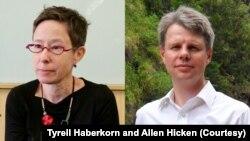 Professor Tyrell Haberkorn of University of Wisconsin-Madison (L) and Professor Allen Hicken of University of Michigan