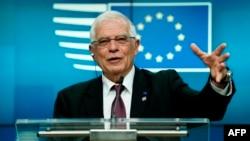 EU ႏုိင္ငံျခားေရးရာ အႀကီးအကဲ Josep Borrell. (ဇန္နဝါရီ ၁၀၊ ၂၀၂၀)