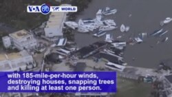 VOA60 World - Caribbean: Hurricane Irma left the island of Barbuda