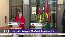 La visite d'Angela Merkel à Ouagadougou