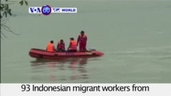 VOA60 World - Indonesia: Authorities have rescued at least 39 migrant workers