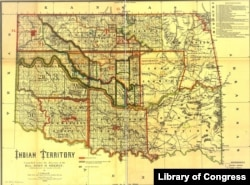 1889 Map of Indian Territory