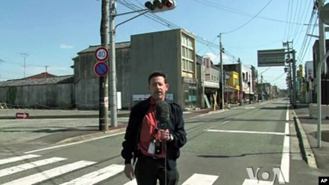 Steve Herman reporting in Namie, near the Fukushima Daiichi nuclear power plant.