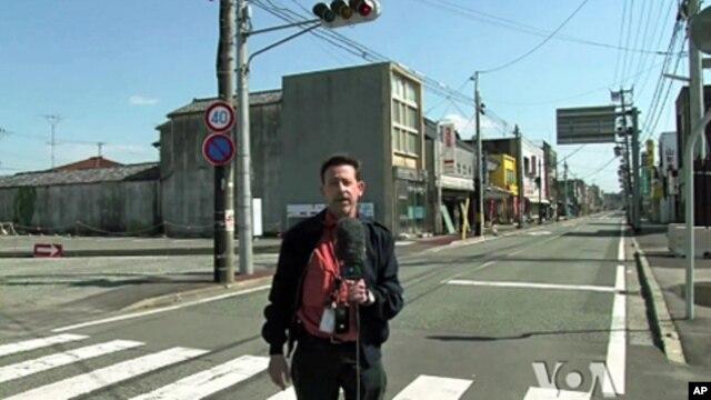 Steve Herman reporting in Namie, near the Fukushima Daiichi nuclear power plant.