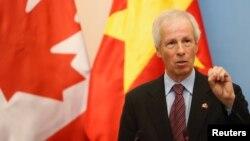 Le désormais ex-chef de la diplomatie canadienne Stéphane Dion était critique à l'égard de Donald Trump.