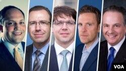 از راست: کن واینستین، مارک دوبوویتز، دیوید ایبسن، ایلان برمن و مایکل روبین