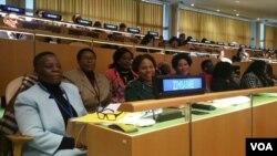Akade besemhlanganweni obona ngabesifazana e United Nations edolobheni le New York