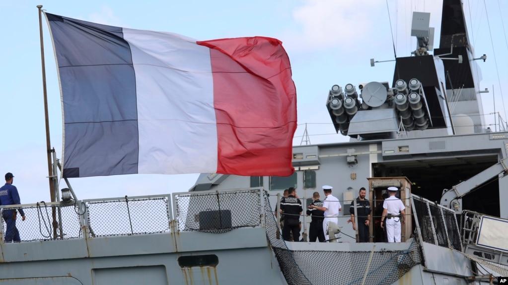 停靠在關島準備參加2017年聯合軍事演習的法國護衛艦- 資料照片