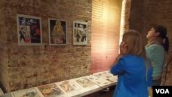 莫斯科古拉格博物馆去年举办的迫害佛教展览。(美国之音白桦拍摄)