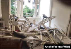 VOA reporter Anchal Vohra's Beirut apartment was damaged by the explosion in Beirut, Lebanon, Aug. 4, 2020