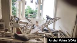 Stan reporterke Glasa Amerike Ančal Vohre oštećen je u eksploziji u Bejrutu, 4. avgusta 2020.