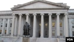 美国财政部总部大楼(资料照)