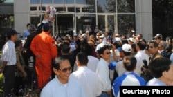 Tòa quận hạt Santa Clara trong một ngày xử vụ Lý Tống xịt hơi cay vào mặt ca sĩ Đàm Vĩnh Hưng (ảnh Bùi Văn Phú)