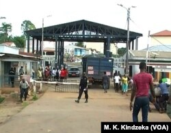 Border check point between Cameroon and Equatorial Guinea at Kiossi, June 5, 2018