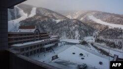 FILE - Masikryong Ski Resort is seen near North Korea's east coast port city of Wonsan, Feb. 20, 2017.