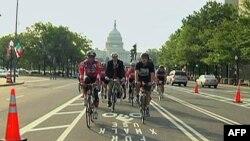 连接白宫和国会的宾夕法尼亚大道上开辟了自行车道
