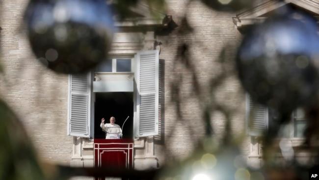 Giáo hoàng Francis hôm 23/12.