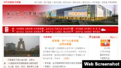 浙江省织里镇官方网页截屏