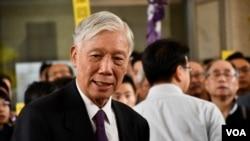 和平佔中三名發起人朱耀明。香港佔中9人案審結,明年4月9日裁決。(美國之音湯惠芸)