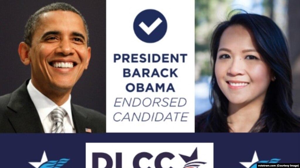 Trâm Nguyễn, một luật sư ở Massachusetts, được cựu Tổng thống Barack Obama ủng hộ trong tranh cử chức Dân biểu tiểu bang trong đợt bầu cử giữa kỳ sẽ diễn ra ngày 6/11.
