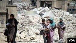جنگ در موصل موجب از بین رفتن زیر بنا های این شهر شده است