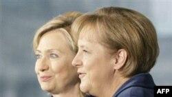 Хиллари Клинтон и Ангела Меркель