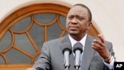 Kenya's President Uhuru Kenyatta announces plans to build a separate prison for terrorist suspects, Feb. 16, 2016.