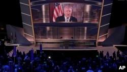 美國共和黨全國代表大會7月19日會場情景