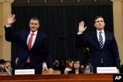 Юристи від республіканців та демократів складають присягу перед свідченнями