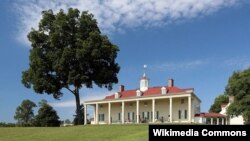 The east front of Mount Vernon overlooks the Potomac River