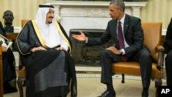 Президент США Барак Обама и король Саудовской Аравии Салман (архивное фото)