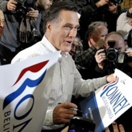 Former Massachusetts governor and Republican presidential hopeful, Mitt-Romney