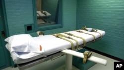 미 텍사스주 헌츠빌 교도소의 사형실 .(료사진)