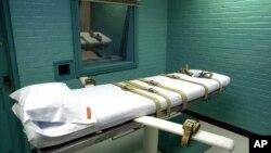 MA Amerika Senin (29/6) membolehkan penggunaan obat penenang midazolam untuk eksekusi hukuman mati dengan suntikan (foto: ilustrasi kamar untuk ekseksusi hukuman mati dengan suntikan di negara bagian Texas).