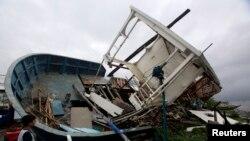 """颱風""""威馬遜""""吹襲菲律賓造成的破壞"""