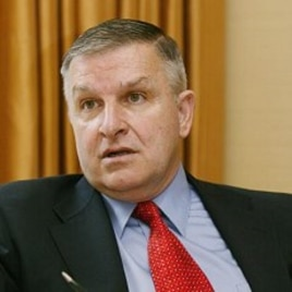 Retired Gen. Anthony Zinni, George Bush's Middle East envoy from 2001-2003, expresses his views during an interview in New York (File Photo)