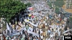 卡拉奇舉行反美示威
