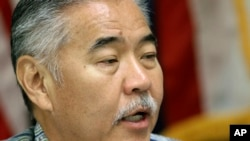 Hawaii Gov. David Ige speaks during a news conference about the state's mistaken missile alert, Jan. 30, 2018, in Honolulu. Hawaii's emergency management leader has resigned and a state employee who sent an alert falsely warning of an incoming ballistic missile has been fired, officials said.