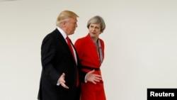 Ông Trump nói ông có 'quan hệ tốt đẹp' với bà Theresa May
