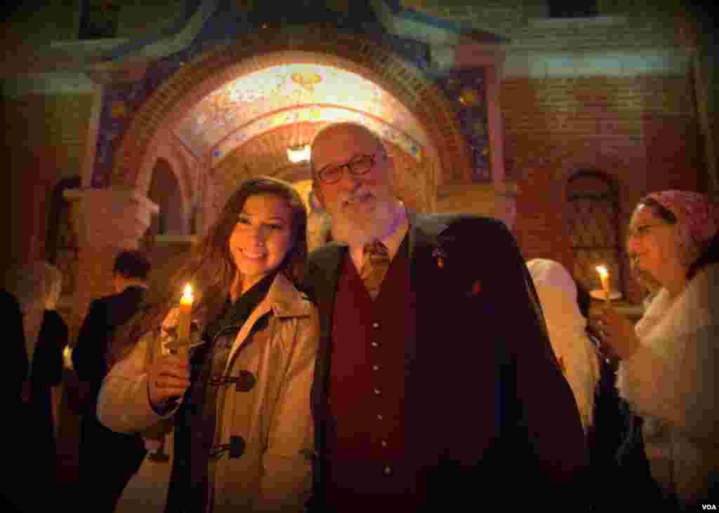 Пасхальная ночь в соборе святого Иоанна Предтечи (Русская Зарубежная церковь)